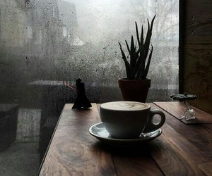 coffee and rain image