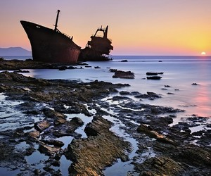 abandoned, boats, and coast image