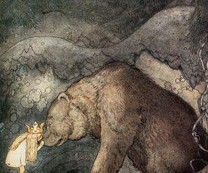 cute, art, and bear image