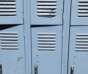 blue, aesthetic, and locker image