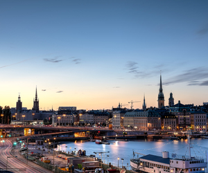 city, morning, and stockholm image