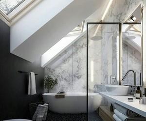 bathroom, house, and bath image