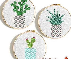 cross stitch, cross stitch flower, and etsy image
