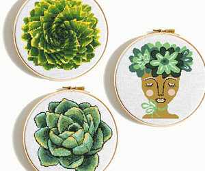 cross stitch, etsy, and embroidery pattern image