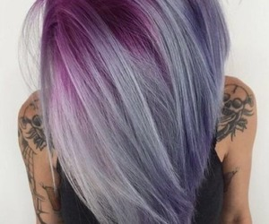 hair, color, and purple image