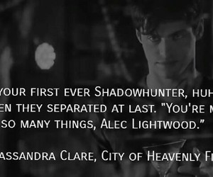 tmi, alec lightwood, and cassandra clare image