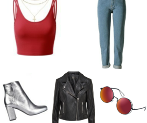 clothes, leather, and look image