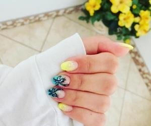 art, nails, and summer image