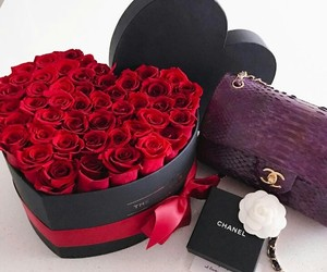 box, romantic, and roses image