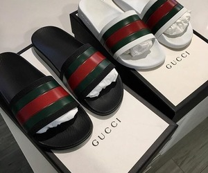 gucci, shoes, and slides image