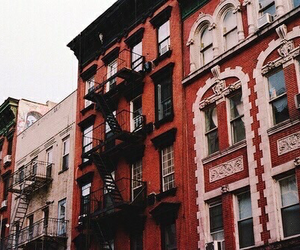 red, theme, and building image