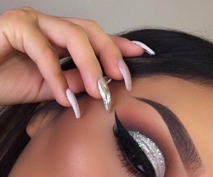 eyebrows, eyeliner, and fashion image