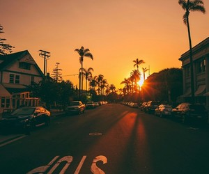 sunset, sun, and stop image
