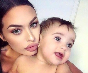 baby, beauty, and makeup image