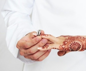 couple, arab, and wedding image