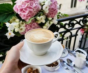 coffee, flowers, and fincan+kopp+koppa image