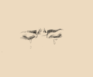art, sad, and cry image