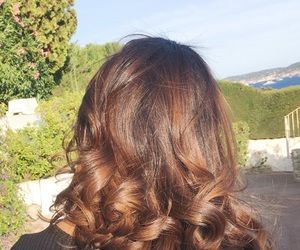 brunette, curls, and curly image