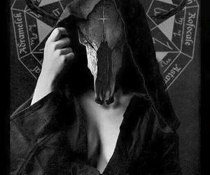 black, dark, and satanic image