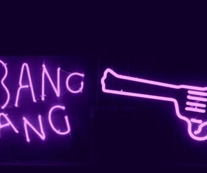 neon, purple, and bang image