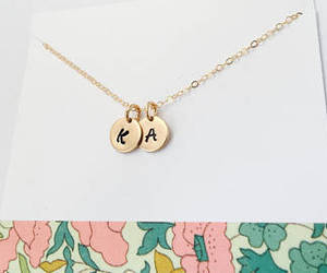 etsy, personalized, and gold mom necklace image