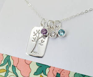 etsy, personalized, and sterling necklace image