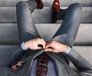 blazer, formal, and shoes image