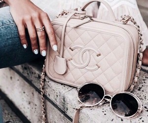 chanel, gold, and jeans image