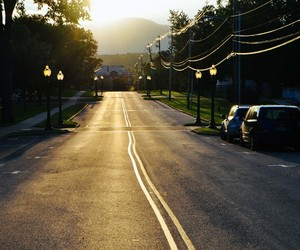 new england, road, and small town image