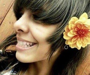 flower, smile, and mel image