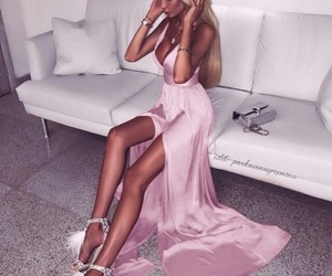 dress, goals, and gown image