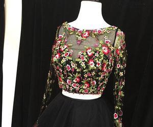 black dress, evening dress, and prom dress image