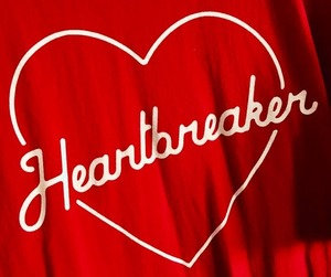 red, aesthetic, and heartbreaker image