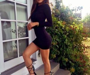 black dress, fashion, and girls image