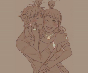 Adrien, marinette, and miraculous image