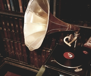 antiques, gramophone, and music image