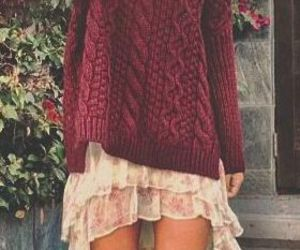 boots, sweater, and outfit image