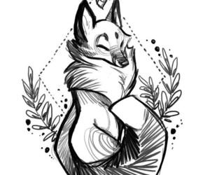 draw, art, and fox image