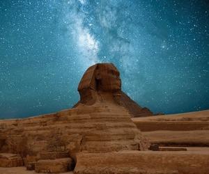 egypt, stars, and sky image