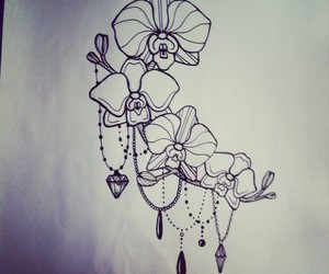 art, orchid, and beautiful image