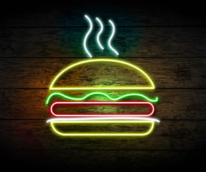 awesome, burger, and colors image