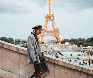 eiffel tower, france, and paris image