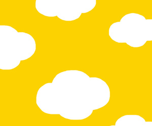 clouds, yellow, and kawaii image