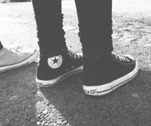 black, black and white, and converse image