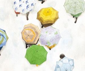 umbrella, art, and drawing image