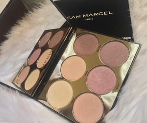 makeup, highlighter, and beauty image