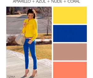 amarillo, azul, and estilo image