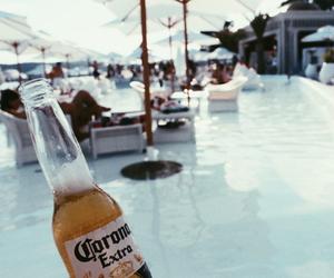 corona, drink, and pool image