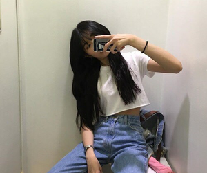 ulzzang, aesthetic, and asian girl image