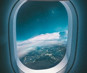 blue, airplane, and inspiration image